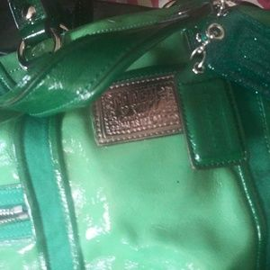 Authentic green Coach bag